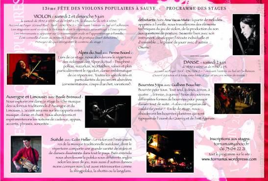 programme des stages FdVp17